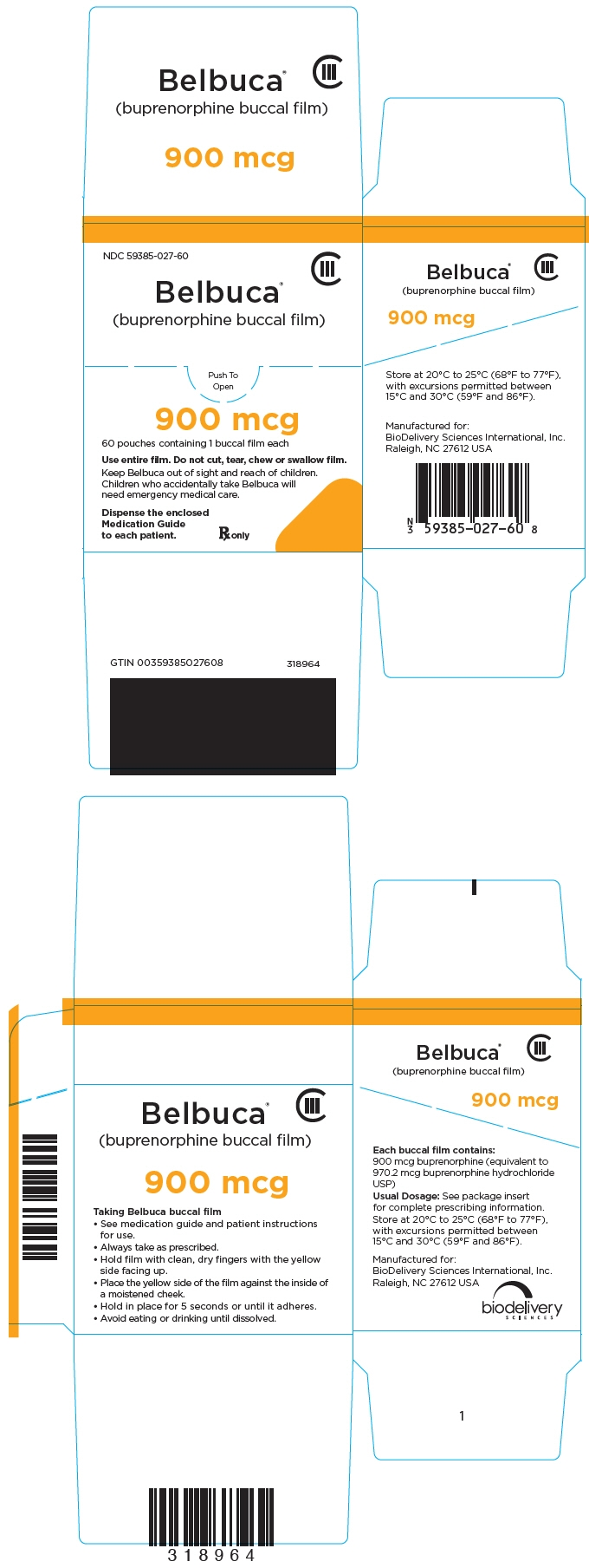Principal Display Panel - 900 mcg Film Pouch Box