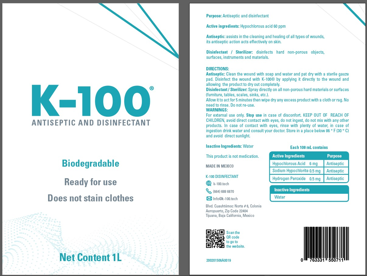 K-100 ANTISEPTIC AND DISINFECTANT