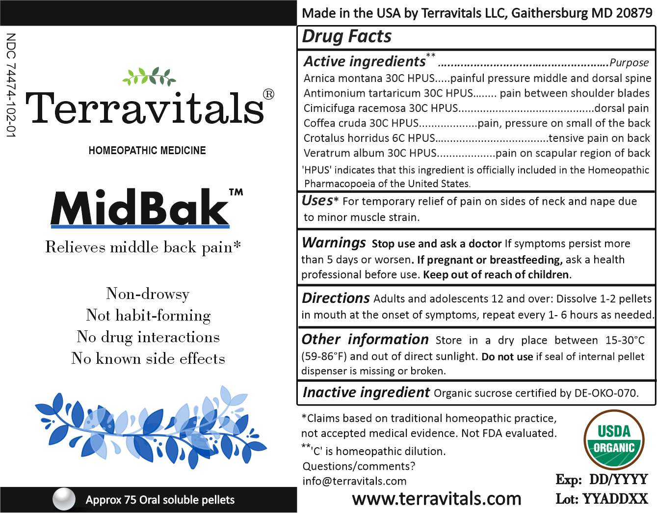 External packaging label