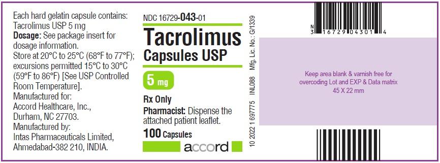 5 mg 100 CAPSULES