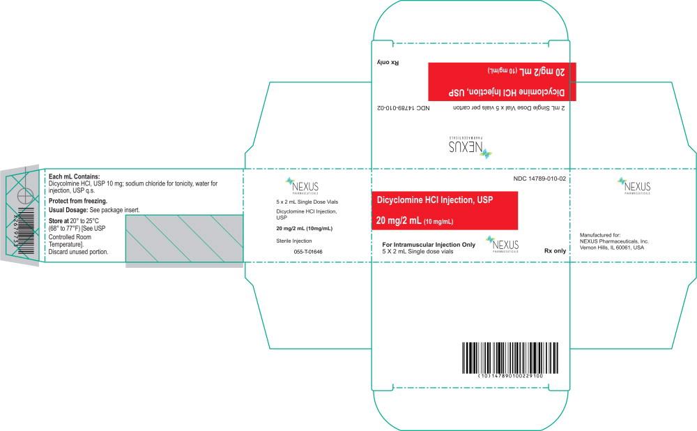 Principal Display Panel - Dicyclomine HCl Injection Carton Label