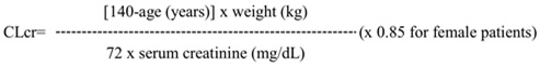 Recommended Dosage Adjustment Formula