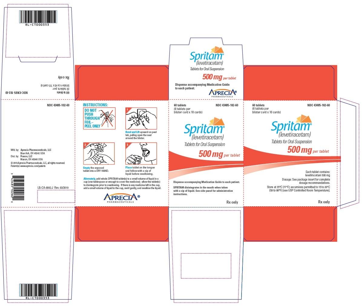 500 mg Carton Label