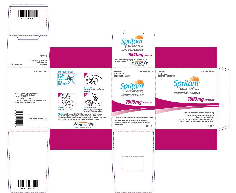 1000 mg Carton Label