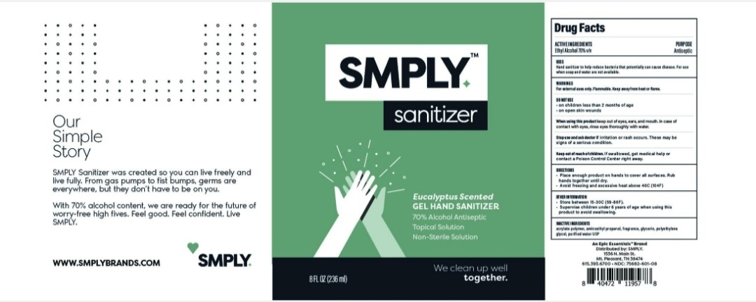 SMPLY Eucalyptus Hand Sanitizer
