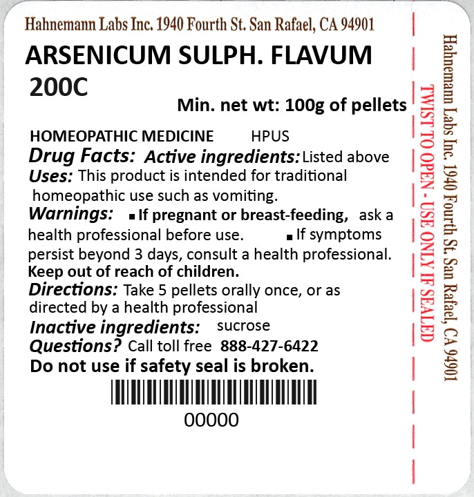 Arsenicum Sulphuratum Flavum 200C 100g
