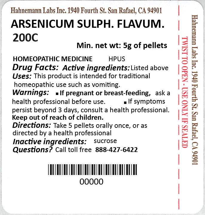 Arsenicum Sulphuratum Flavum 200C 5g