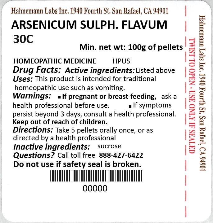 Arsenicum Sulphuratum Flavum 30C 100g