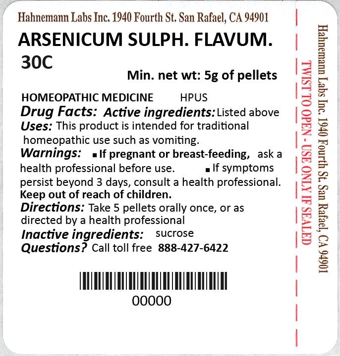 Arsenicum Sulphuratum Flavum 30C 5g