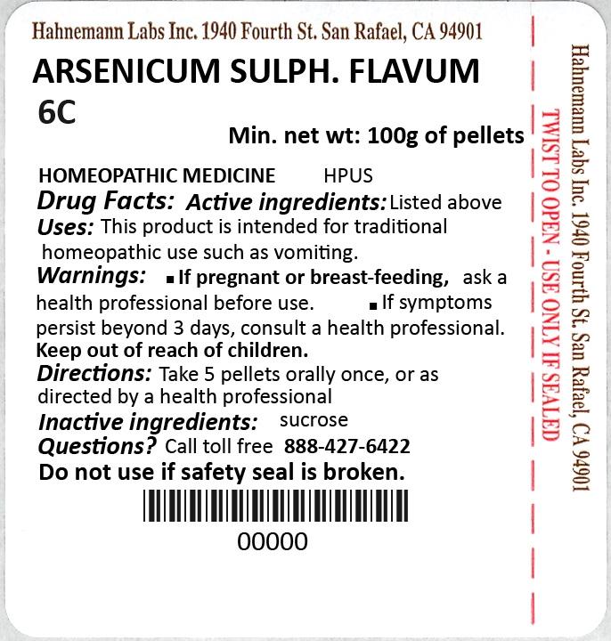 Arsenicum Sulphuratum Flavum 6C 100g