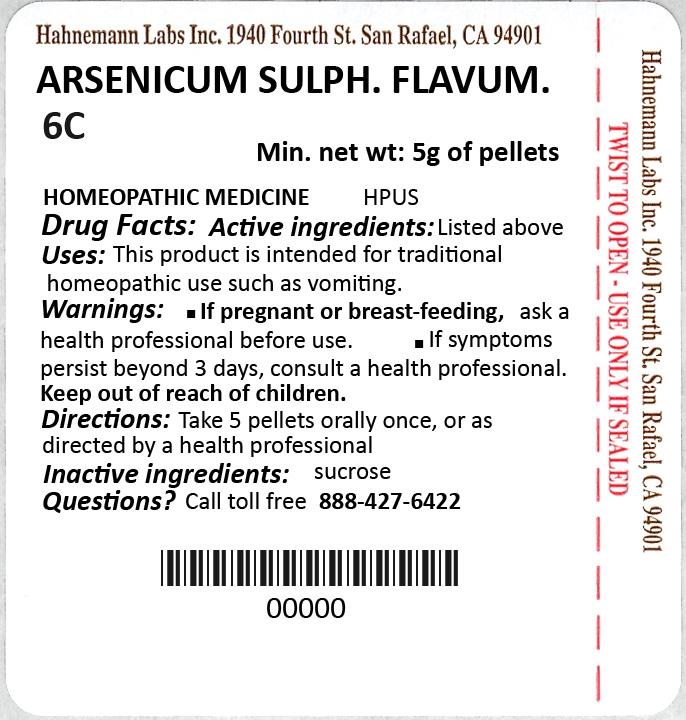 Arsenicum Sulphuratum Flavum 6C 5g