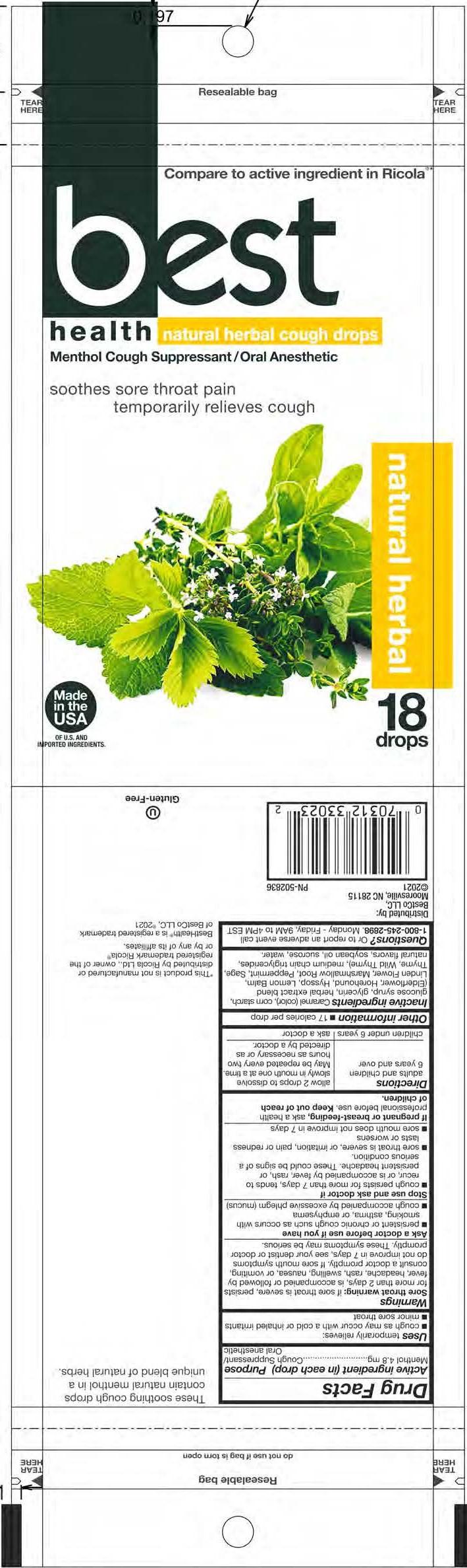 BestHealth Herbal 18ct Cough Drops