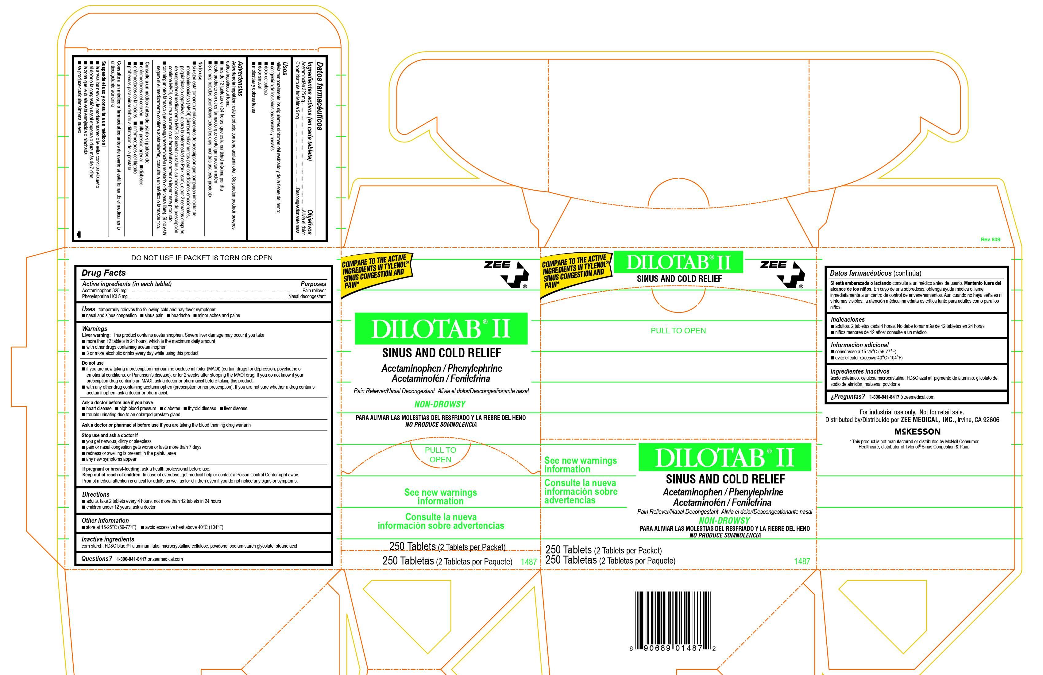 Dilotab II, 250 Box