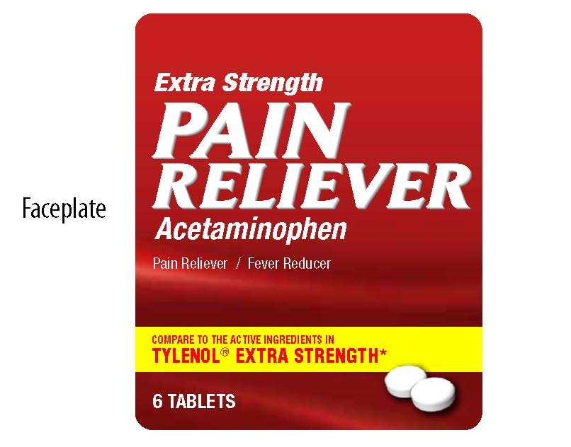 Extra Strength Pain Reliever Faceplate