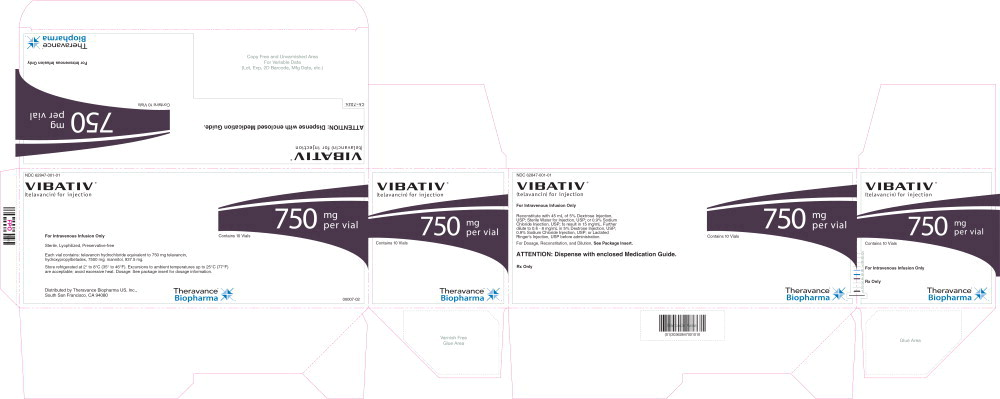 Principal Display Panel - 750 mg/vial Container Label