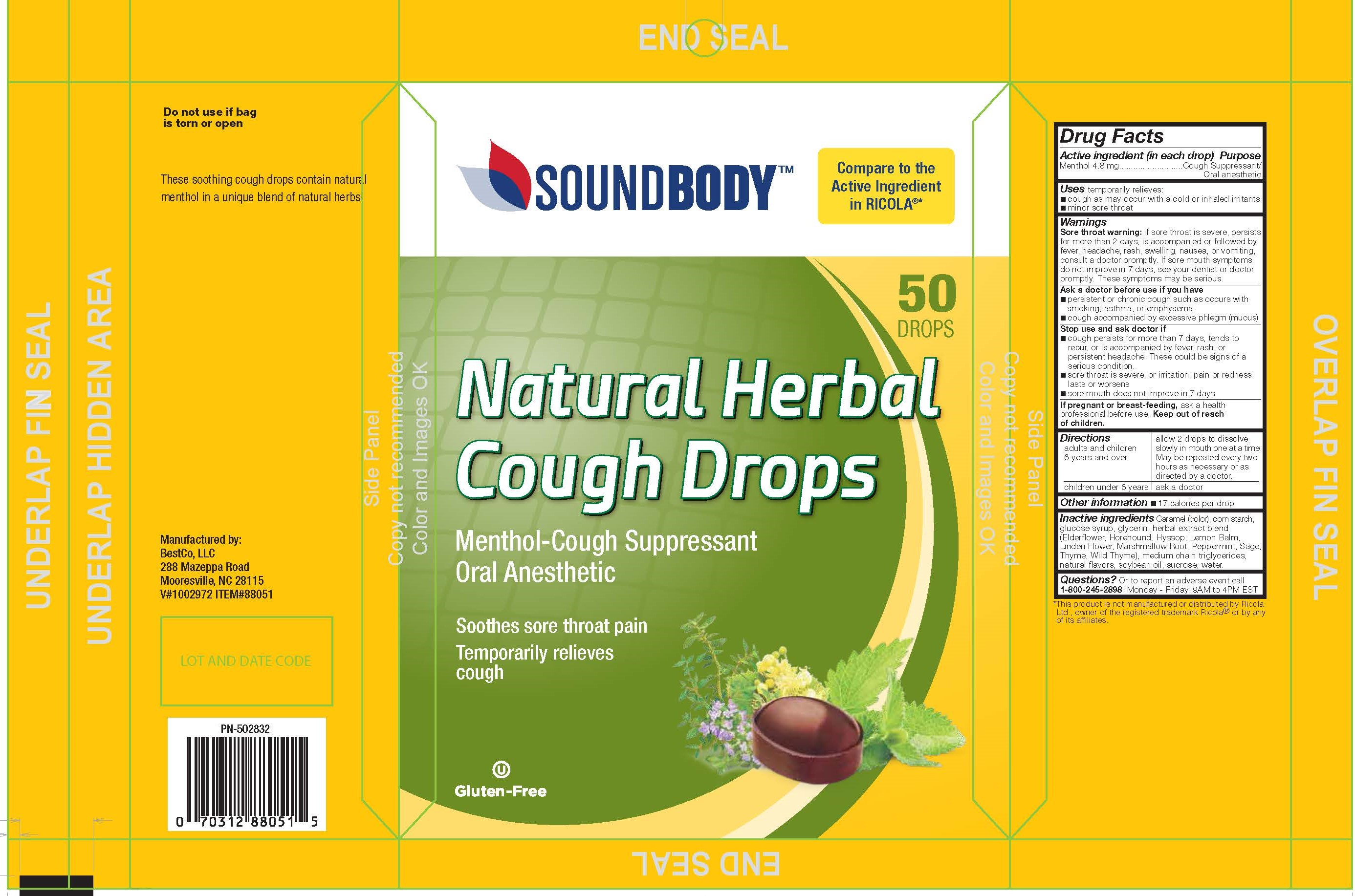 Sound Body Herbal 50ct Cough Drops