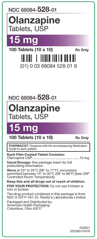 15 mg Olanzapine Tablets Carton