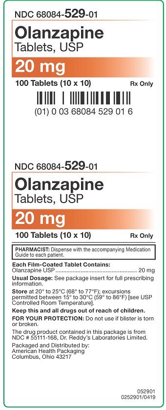 20 mg Olanzapine Tablets Carton