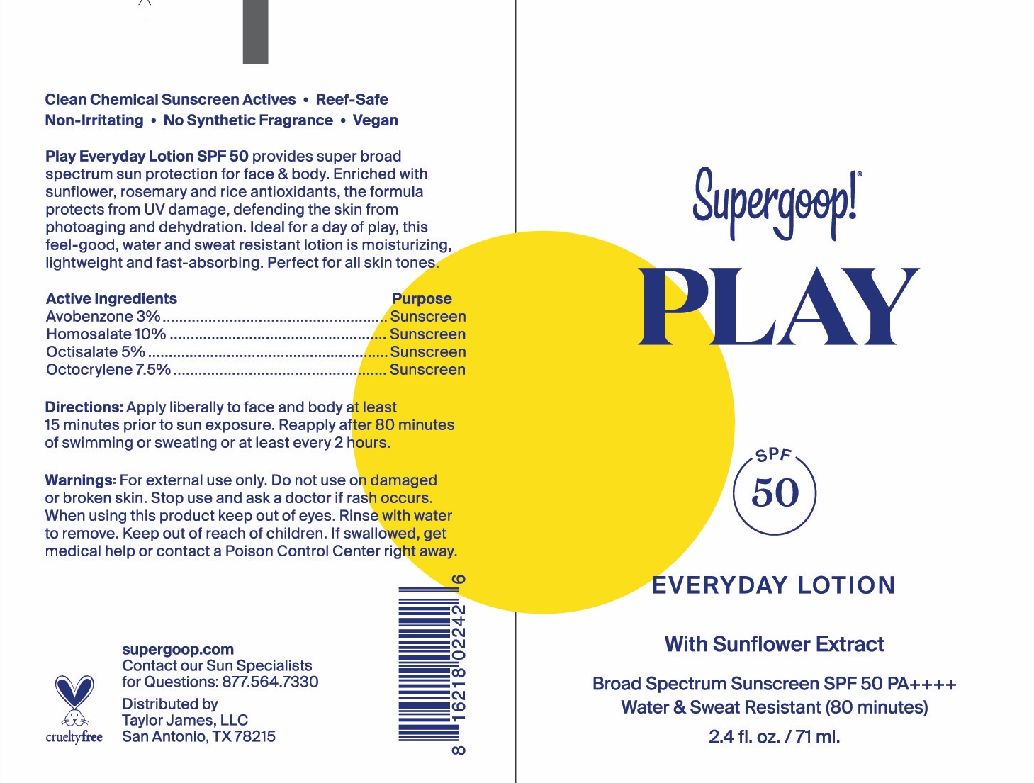 play everyday lotion tube