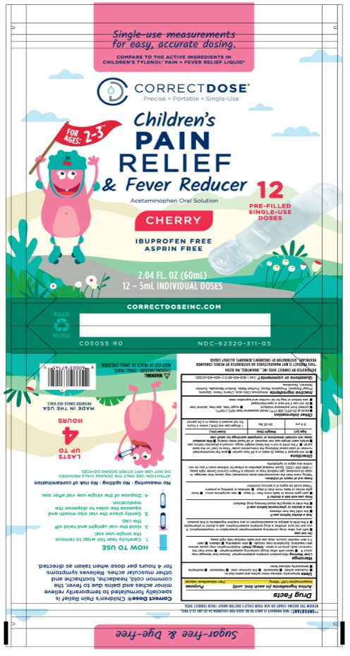 Childrens Pain Relief and Fever Reducing 12 count pouch