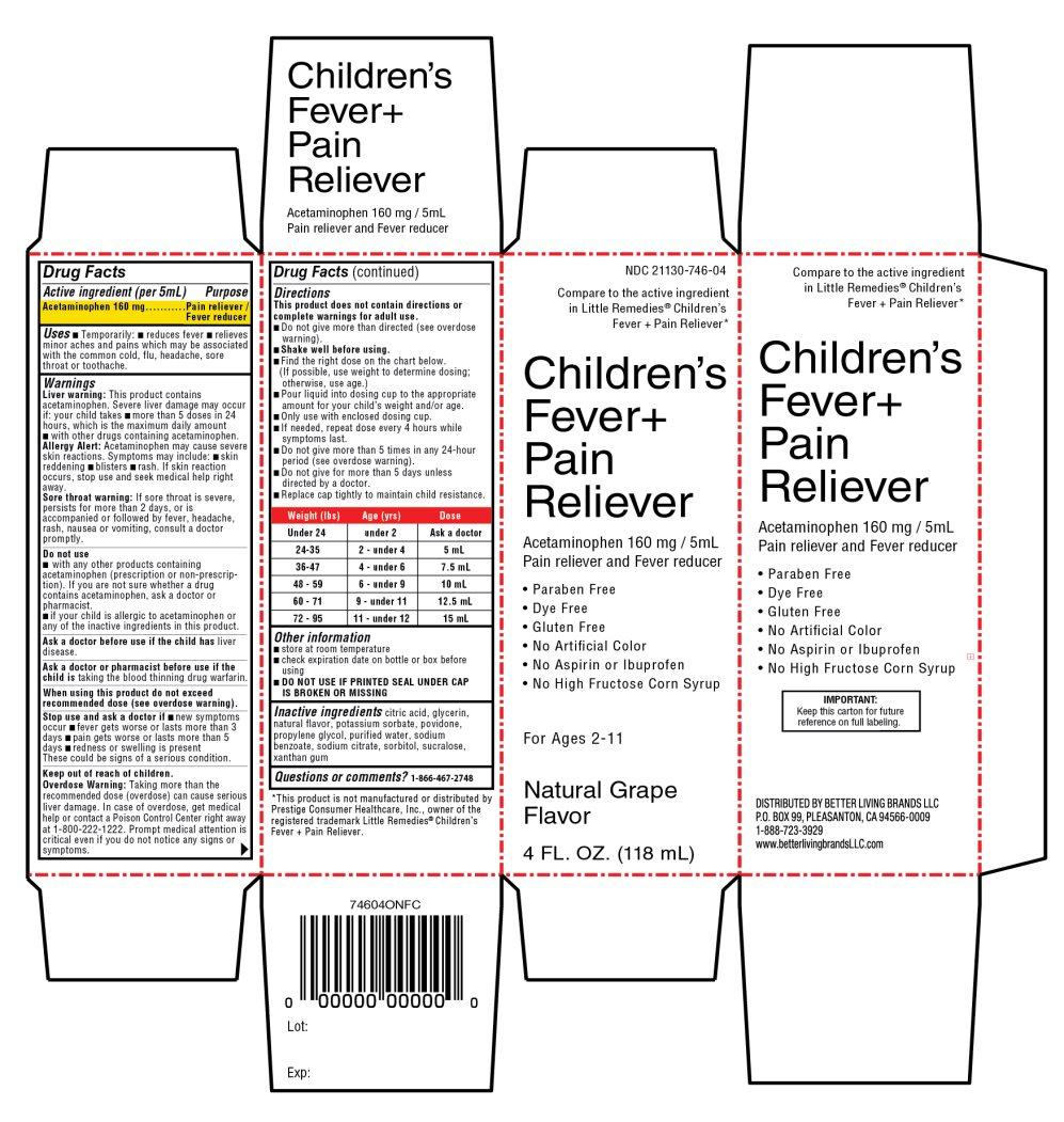 Children's Fever+ pain reliever grape flavor