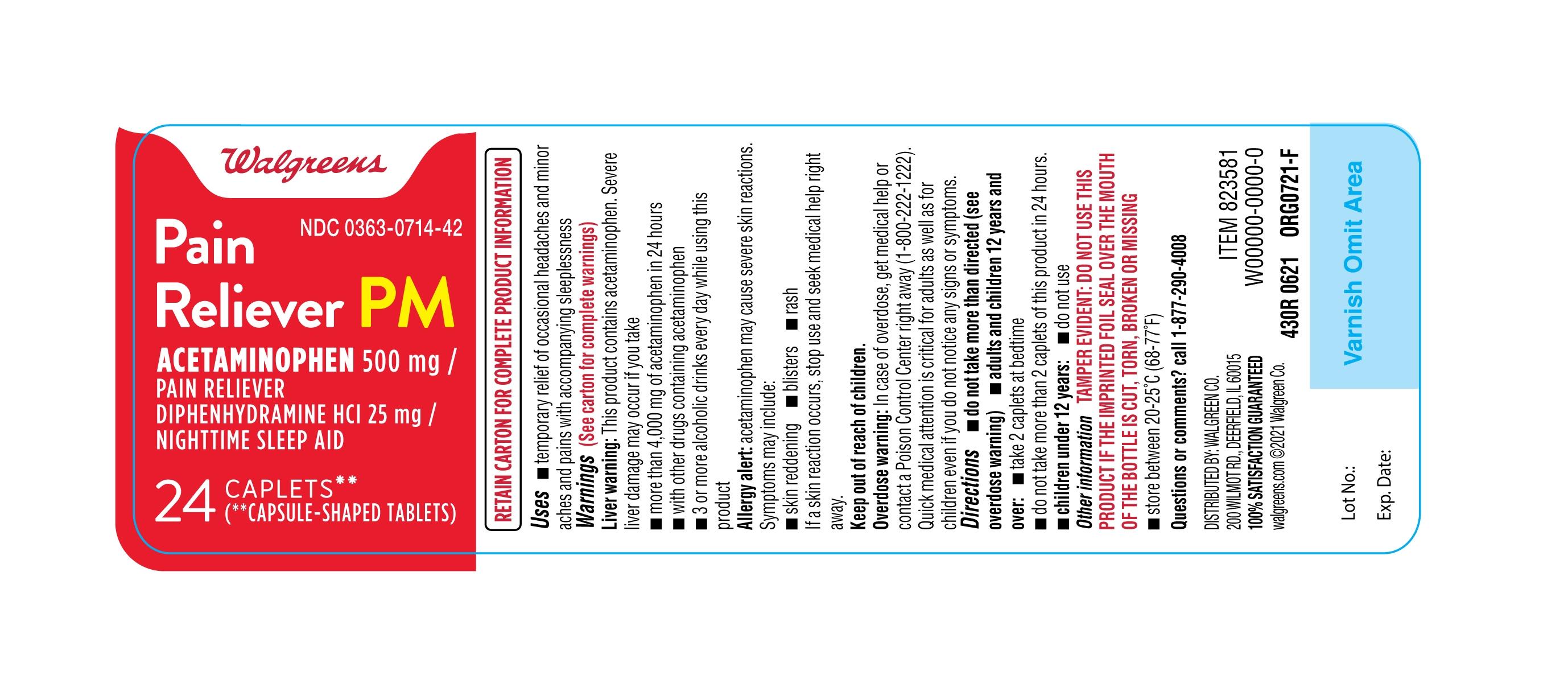 430R-Walgreens-Acetaminophen 500-mg-Diphenhydramine Hcl-bottle-label-24ct