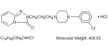 Trazadone Hydrochloride Tablet Structural Formula