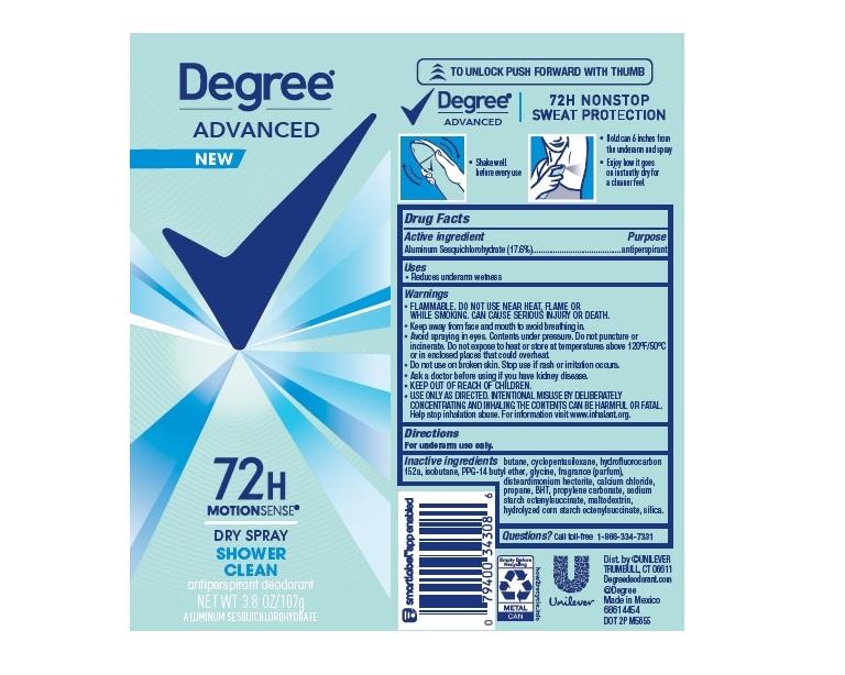 Degree Shower Clean Dry Spray AP Deo