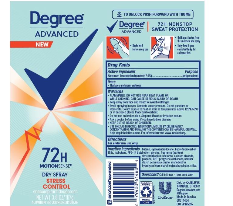 Degree Stress Control Dry Spray AP Deo