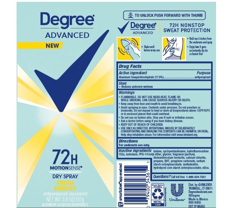 Degree Fresh Energy Dry Spray AP Deo