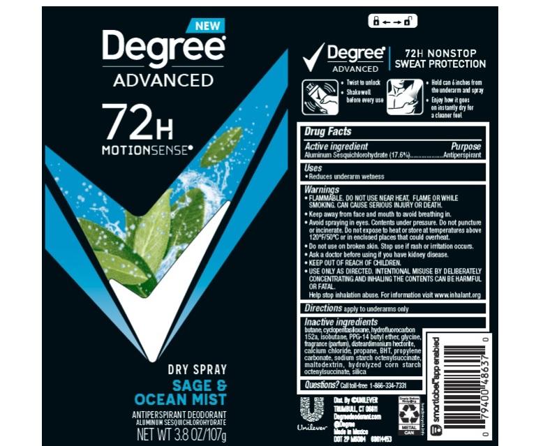 Degree Sage Ocean Mist Dry Spray AP Deo