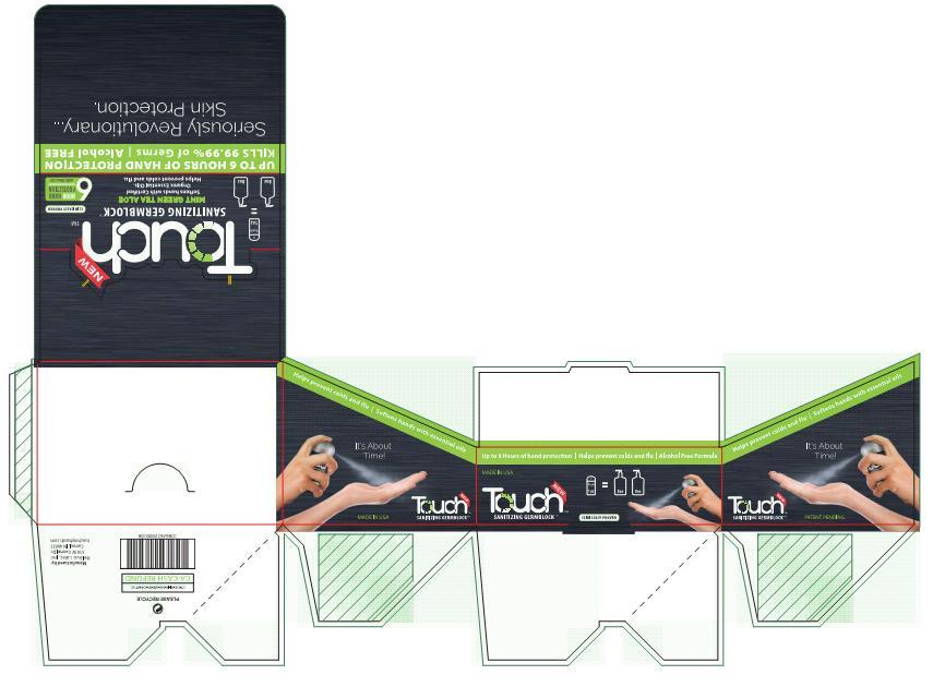 Touch Carton Display Mint Green Tea Aloe