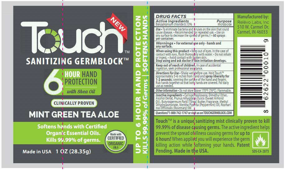 Touch Mint Green Tea Aloe Label