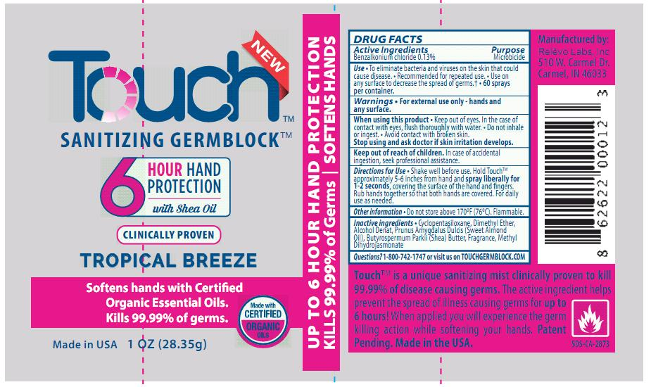 Touch Tropical Breeze Label