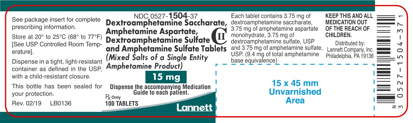 15 mg Container Label 100 ct