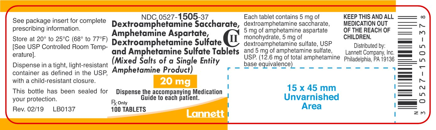 20 mg Container Label 100 ct.