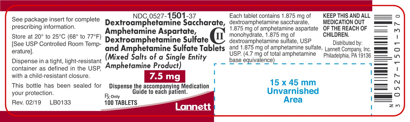 7.5mg Container Label 100 ct