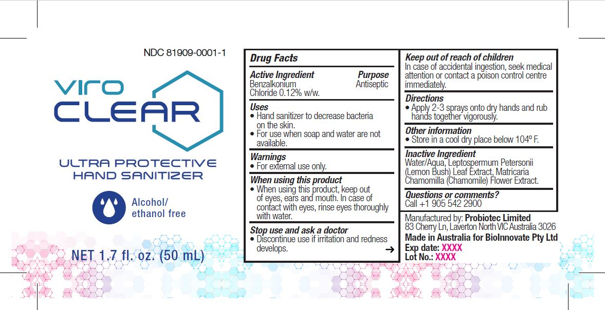 ViroClear 50ml Label