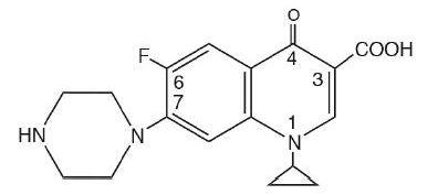 ciprofloxacin chemical structure