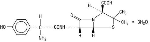 amoxicillin structural formula