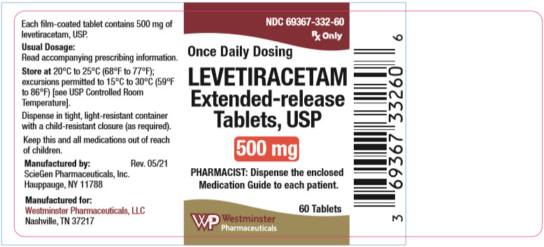 PRINCIPAL DISPLAY PANEL - 500 mg Tablet Bottle Label