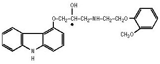 carvedilol chemical structure
