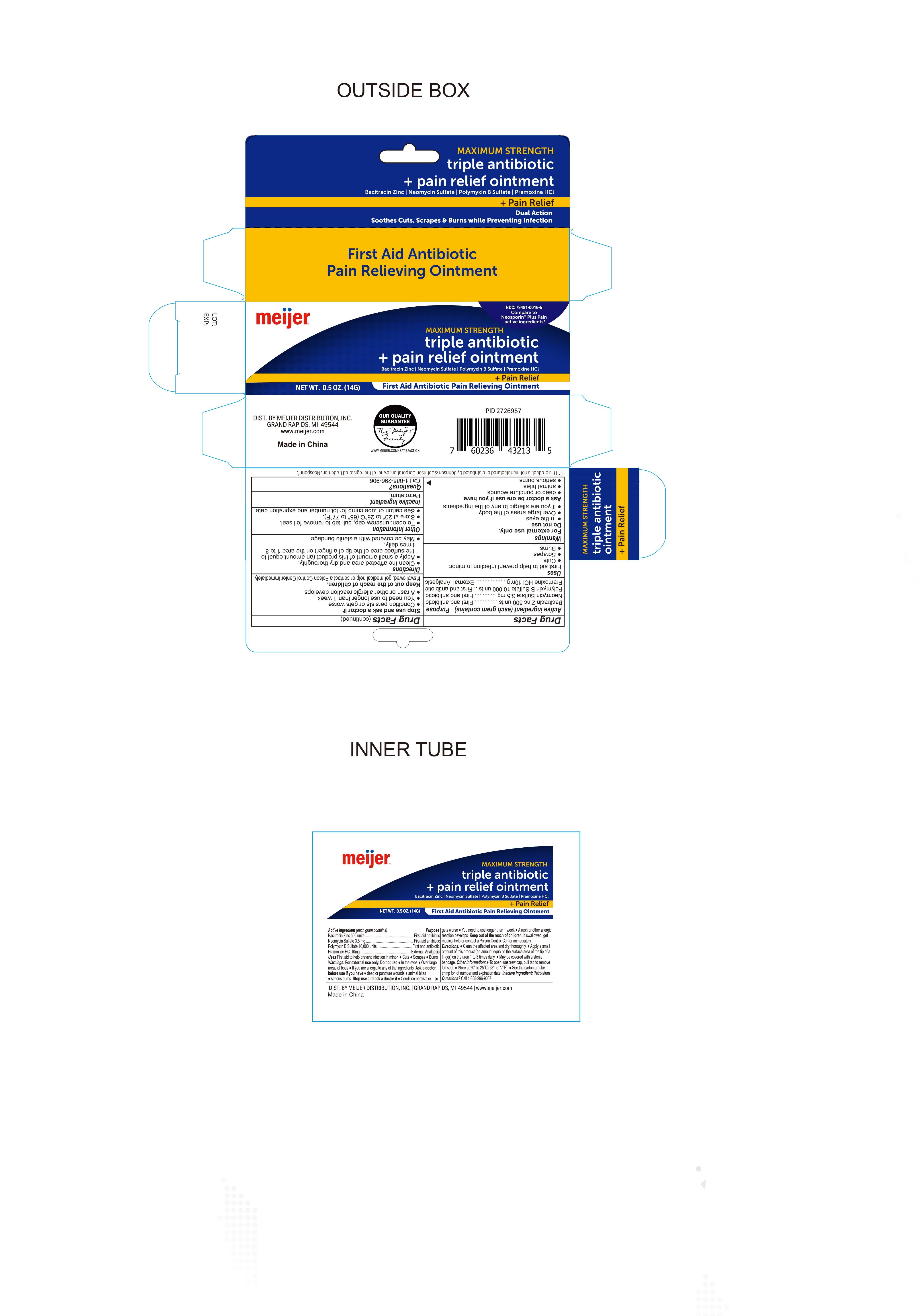2726957 Meijer Triple Antibiotic Ointment Pain Relief