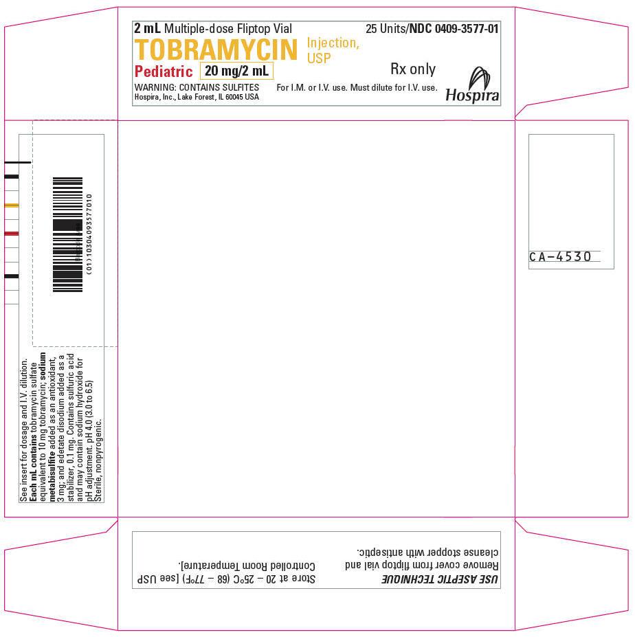 PRINCIPAL DISPLAY PANEL - 20 mg/2 mL Vial Tray