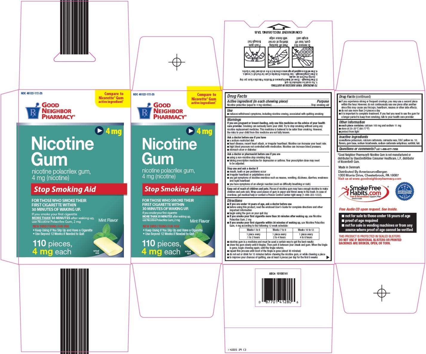 Nicotine Gum Carton