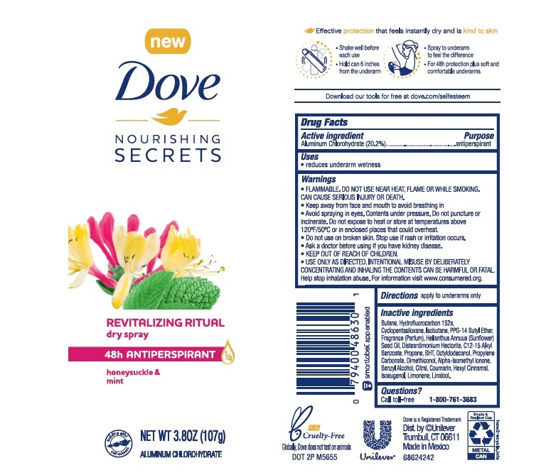 Dove Honeysuckle Mint Dry Spray AP AE