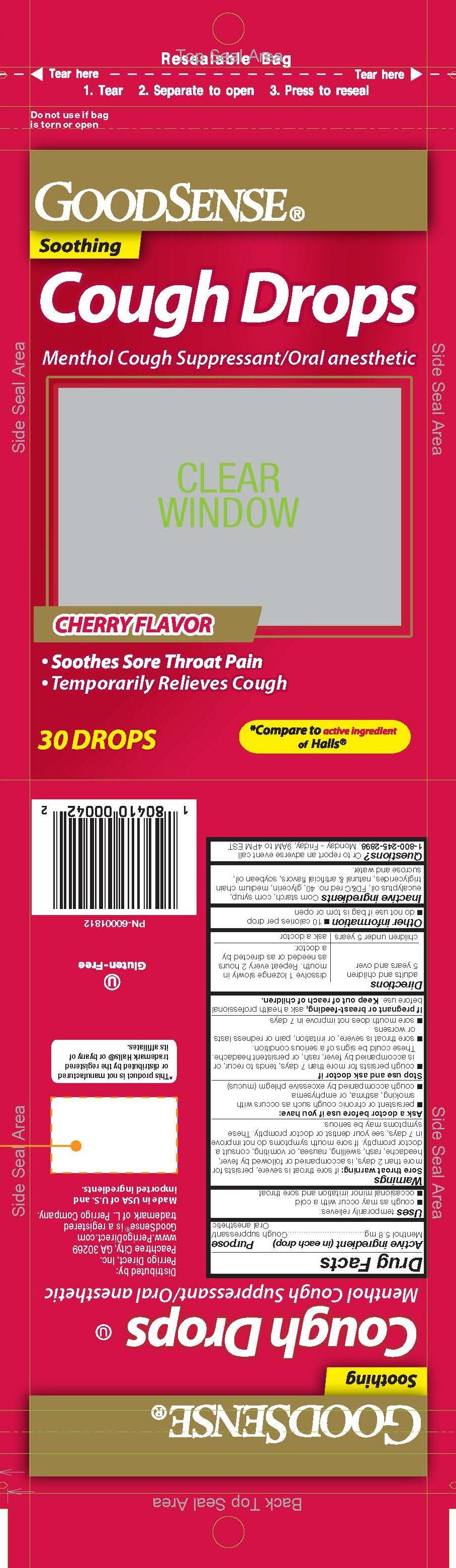 GoodSense Cherry 30ct Cough Drops