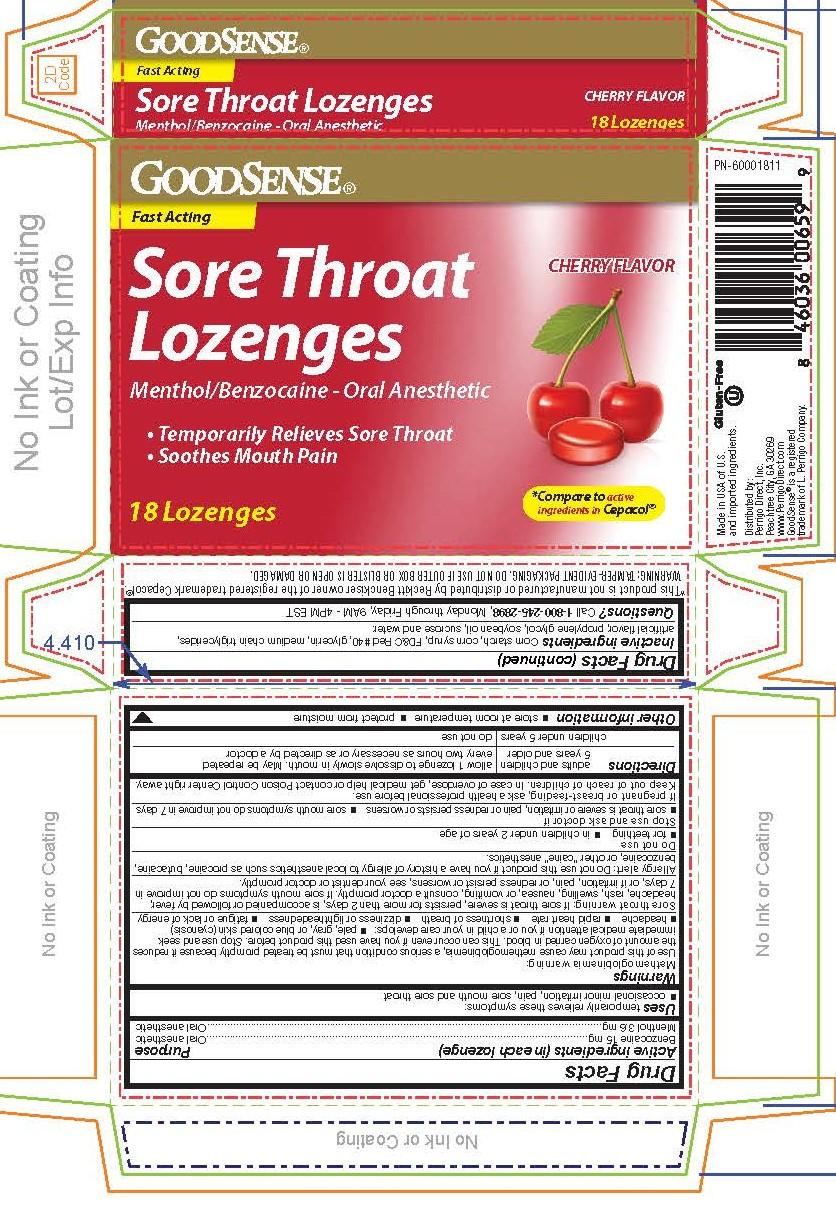 Good Sense Cherry Benzocaine 18ct Lozenges