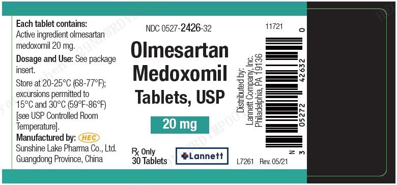 20 mg 30 ct Bottle Label