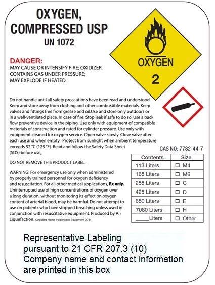 Representative HP Label
